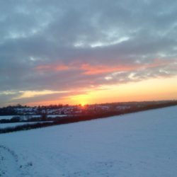 Winter sunset in Scraptoft