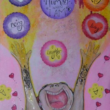I feel human when I am by Teigh-Anne Shave