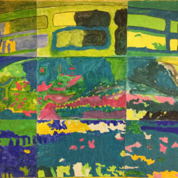Monet Reflections by Peggy Butherway, Delia Lowe, Gill Palmer & Lynn Taylor when at The Bennion Centre