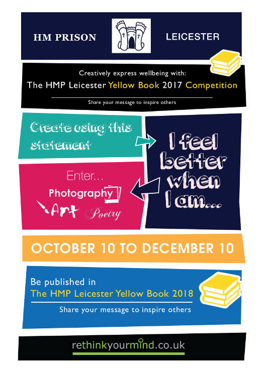 The HMP Leics Yellow Book - Flyer Front